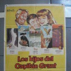 Cine: AAH97 LOS HIJOS DEL CAPITAN GRANT HAYLEY MILLS JULIO VERNE DISNEY POSTER ORIGINAL 70X100 ESTRENO. Lote 204673505