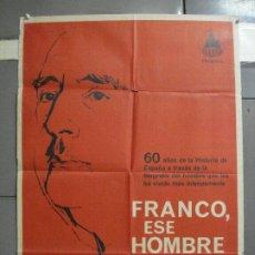 Cine: AAI11 FRANCISCO FRANCO ESE HOMBRE GUERRA CIVIL MONTALBAN POSTER ORIGINAL 70X100 ESTRENO. Lote 204682842