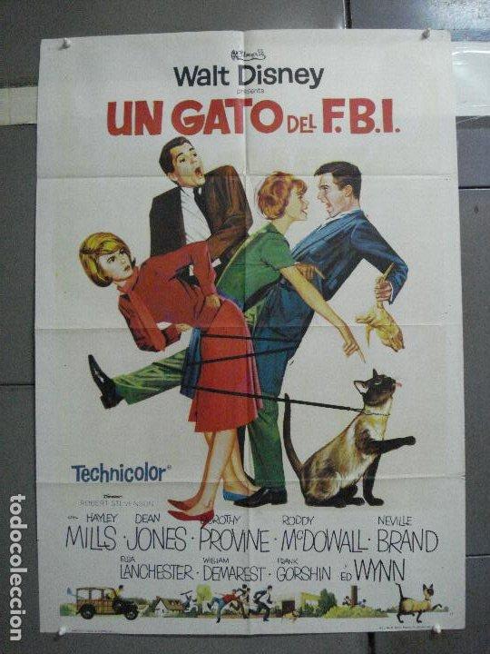 AAI14 UN GATO DEL FBI HAYLEY MILLS WALT DISNEY POSTER ORIGINAL ESPAÑOL 70X100 ESTRENO (Cine - Posters y Carteles - Infantil)