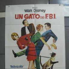 Cine: AAI14 UN GATO DEL FBI HAYLEY MILLS WALT DISNEY POSTER ORIGINAL ESPAÑOL 70X100 ESTRENO. Lote 204684725