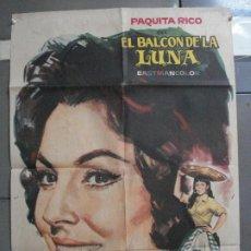 Cine: AAI15 EL BALCON DE LA LUNA PAQUITA RICO RETRATO JANO POSTER ORIGINAL ESTRENO 70X100. Lote 204685270