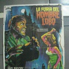 Cine: AAI20 LA FURIA DEL HOMBRE LOBO PAUL NASCHY SOLIGO POSTER ORIGINAL 70X100 ESPAÑOL. Lote 204688001