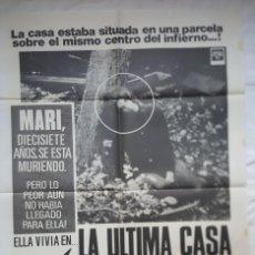Cinema: PÓSTER ORIGINAL LA ÚLTIMA CASA A LA IZQUIERDA. Lote 204693371