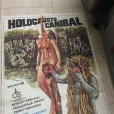 Cine: CARTEL ORIGINAL HOLOCAUSTO CANIBAL. Lote 204707875