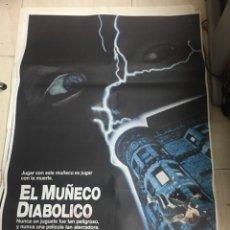 Cine: CARTEL ORIGINAL PELICULA EL MUÑECO DIABOLICO. Lote 204710348