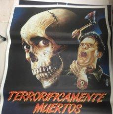 Cine: CARTEL ORIGINAL TERRORIFICAMENTE NUERTO. Lote 204710546