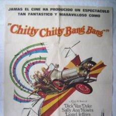 Cine: CHITTY, CHITTY, BANG, BANG, CON DICK VANDYKE. POSTER 69 X 98 CMS. 1969.. Lote 204729902