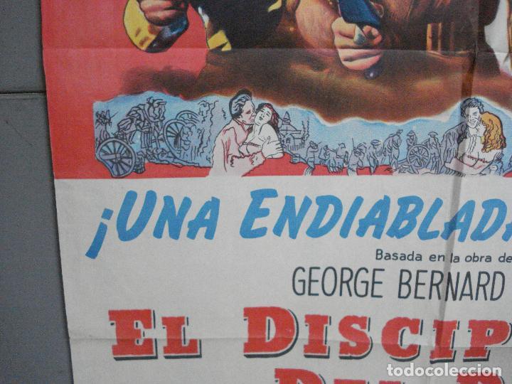 Cine: CDO 2475 EL DISCIPULO DEL DIABLO LANCASTER OLIVIER DOUGLAS POSTER ORIGINAL ARGENTINO 75X110 LITO - Foto 4 - 204785361