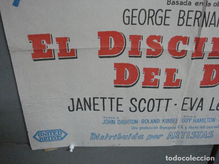 Cine: CDO 2475 EL DISCIPULO DEL DIABLO LANCASTER OLIVIER DOUGLAS POSTER ORIGINAL ARGENTINO 75X110 LITO - Foto 5 - 204785361