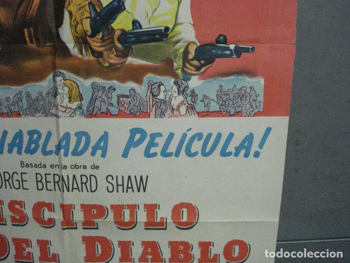 Cine: CDO 2475 EL DISCIPULO DEL DIABLO LANCASTER OLIVIER DOUGLAS POSTER ORIGINAL ARGENTINO 75X110 LITO - Foto 8 - 204785361