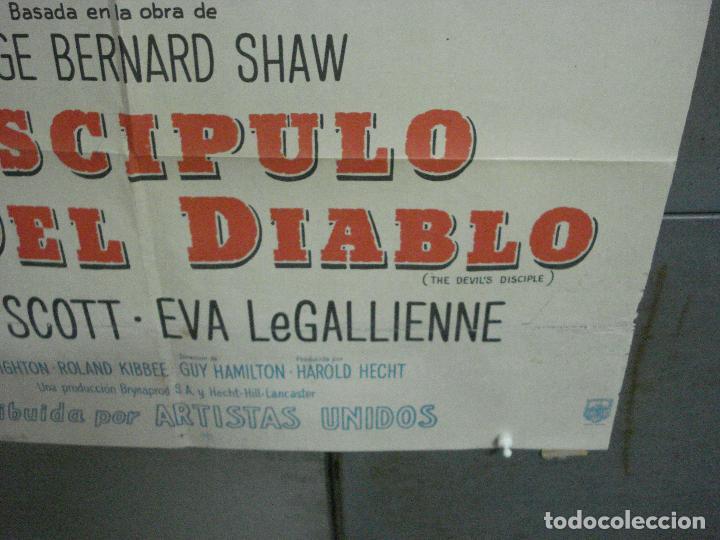 Cine: CDO 2475 EL DISCIPULO DEL DIABLO LANCASTER OLIVIER DOUGLAS POSTER ORIGINAL ARGENTINO 75X110 LITO - Foto 9 - 204785361