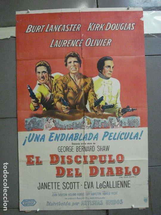 CDO 2475 EL DISCIPULO DEL DIABLO LANCASTER OLIVIER DOUGLAS POSTER ORIGINAL ARGENTINO 75X110 LITO (Cine - Posters y Carteles - Acción)
