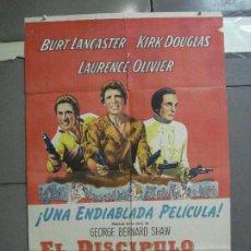 Cine: CDO 2475 EL DISCIPULO DEL DIABLO LANCASTER OLIVIER DOUGLAS POSTER ORIGINAL ARGENTINO 75X110 LITO. Lote 204785361