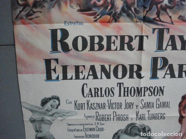 Cine: CDO 2476 EL VALLE DE LOS REYES ROBERT TAYLOR ELEANOR PARKER POSTER ORIGINAL ARGENTINO 75X110 LITO - Foto 4 - 204786265