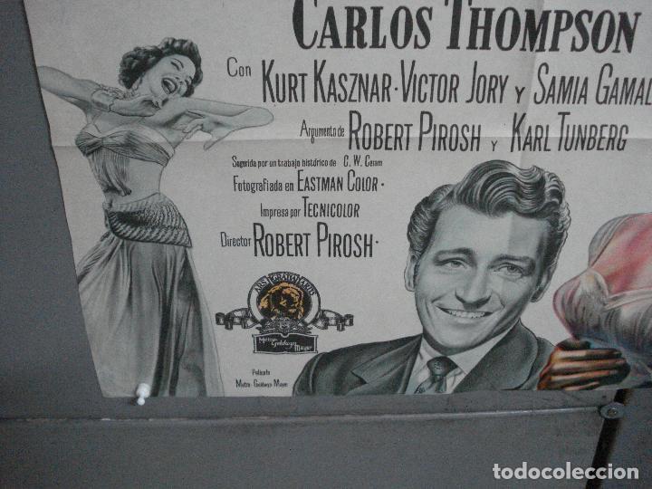 Cine: CDO 2476 EL VALLE DE LOS REYES ROBERT TAYLOR ELEANOR PARKER POSTER ORIGINAL ARGENTINO 75X110 LITO - Foto 5 - 204786265