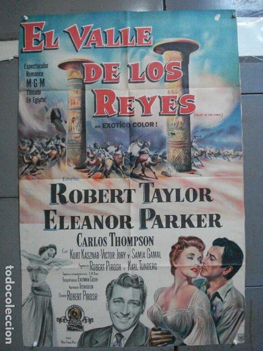 CDO 2476 EL VALLE DE LOS REYES ROBERT TAYLOR ELEANOR PARKER POSTER ORIGINAL ARGENTINO 75X110 LITO (Cine - Posters y Carteles - Acción)