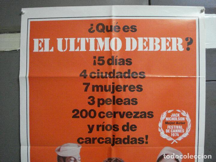 Cine: CDO 2480 EL ULTIMO DEBER JACK NICHOLSON POSTER ORIGINAL USA 70X105 en español - Foto 2 - 204790371