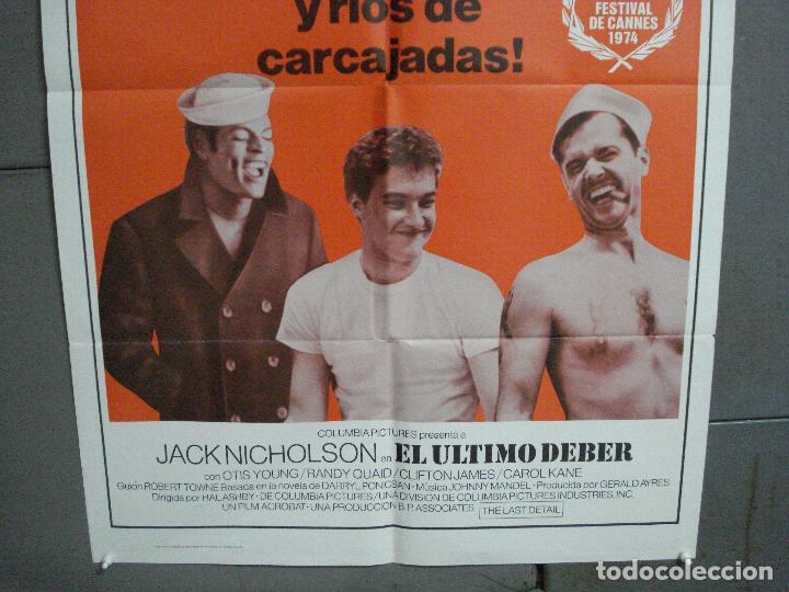 Cine: CDO 2480 EL ULTIMO DEBER JACK NICHOLSON POSTER ORIGINAL USA 70X105 en español - Foto 3 - 204790371