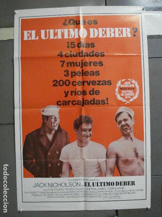 CDO 2480 EL ULTIMO DEBER JACK NICHOLSON POSTER ORIGINAL USA 70X105 EN ESPAÑOL (Cine- Posters y Carteles - Drama)