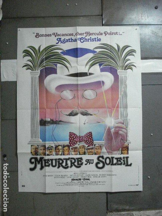 CDO 2487 MUERTE BAJO EL SOL AGATHA CHRISTIE HERCULES POIROT USTINOV POSTER ORIGINAL FRANCES 120X160 (Cine - Posters y Carteles - Suspense)