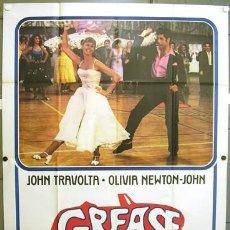 Cine: CS53D GREASE JOHN TRAVOLTA OLIVIA NEWTON-JOHN POSTER ORIGINAL 140X200 ITALIANO. Lote 204840946