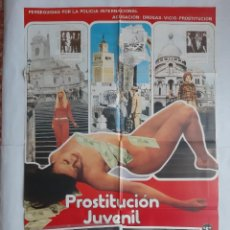 Cine: ANTIGUO CARTEL CINE PROSTITUCION INFANTIL CLASIFICADA S + 10 FOTOCROMOS 1980 CC222. Lote 204841256