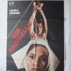 Cine: ANTIGUO CARTEL CINE SOR EMANUELLE CLASIFICADA S + 12 FOTOCROMOS 1978 CC223. Lote 204841390