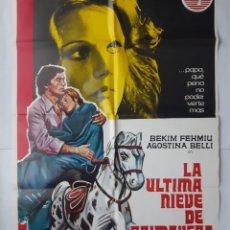Cine: ANTIGUO CARTEL CINE LA ULTIMA NIEVE DE PRIMAVERA+ 12 FOTOCROMOS 1974 JANO CC227. Lote 204842917