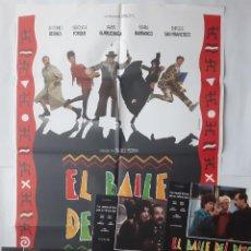 Cinema: ANTIGUO CARTEL CINE EL BAILE DEL PATO + 12 FOTOCROMOS 1989 CC229. Lote 204845182