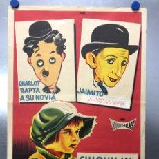 Cine: CHIQUILIN ARTISTA DE CIRCO - CHARLOT RAPTA A SU NOVIA - JAIMITO PASTELERO - AÑO 1964, LITOGRAFIA. Lote 204968172
