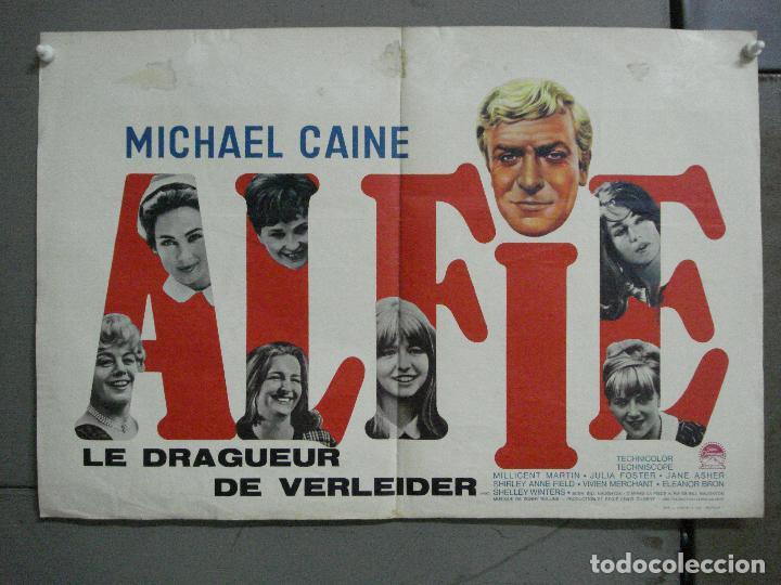 AAI30 ALFIE MICHAEL CAINE POSTER ORIGINAL BELGA 36X54 (Cine - Posters y Carteles - Musicales)