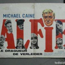 Cine: AAI30 ALFIE MICHAEL CAINE POSTER ORIGINAL BELGA 36X54. Lote 204986872