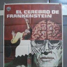 Cine: AAI35 EL CEREBRO DE FRANKENSTEIN PETER CUSHING TERENCE FISHER HAMMER MCP POSTER ORIG 70X100 ESTRENO. Lote 204996522