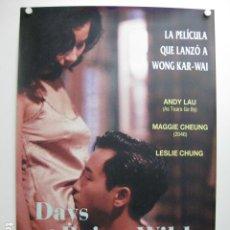 Cinema: DAYS OF BEING WILD - POSTER CARTEL ORIGINAL - WONG KAR-WAI MAGGIE CHEUNG ANDY LAU AH FEI ZING ZYUN. Lote 245635885