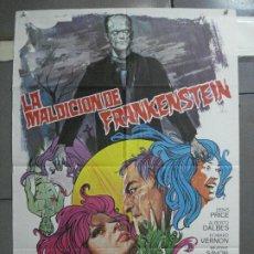 Cine: AAI45 LA MALDICION DE FRANKENSTEIN JESS FRANCO POSTER ORIGINAL ESTRENO 70X100. Lote 205008745