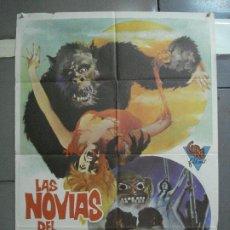 Cine: AAI49 LAS NOVIAS DEL MONSTRUO EDDIE ROMERO POSTER ORIGINAL 70X100 DEL ESTRENO. Lote 205010376