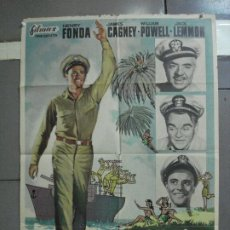 Cine: AAI55 ESCALA EN HAWAI JOHN FORD HENRY FONDA JAMES CAGNEY JACK LEMMON POSTER ORIGINAL 70X100 ESTRENO. Lote 205011856