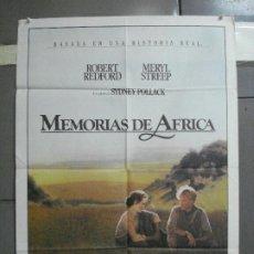Cine: AAI63 MEMORIAS DE AFRICA ROBERT REDFORD MERYL STREEP POSTER ORIGINAL 70X100 ESTRENO. Lote 205013872