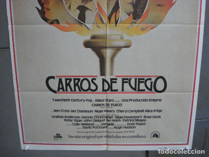 Cine: AAI66 CARROS DE FUEGO HUGH HUDSON OLIMPIADAS POSTER ORIGINAL 70X100 ESTRENO - Foto 3 - 205015865
