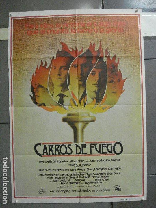 AAI66 CARROS DE FUEGO HUGH HUDSON OLIMPIADAS POSTER ORIGINAL 70X100 ESTRENO (Cine - Posters y Carteles - Deportes)
