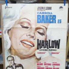 Cine: HARLOW-LA RUBIA PLATINO-GORDON DOUGLAS-CARROLL BAKER-MARTIN BALSAM. Lote 205016982
