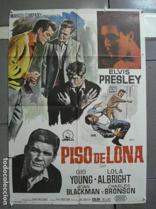 AAI70 PISO DE LONA KID GALAHAD ELVIS PRESLEY POSTER ORIGINAL 70X100 ESTRENO (Cine - Posters y Carteles - Musicales)