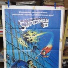 Cine: SUPERMAN III, CHRISTOPHER REEVE. AÑO 1983. POSTER ORIGINAL. Lote 205018075