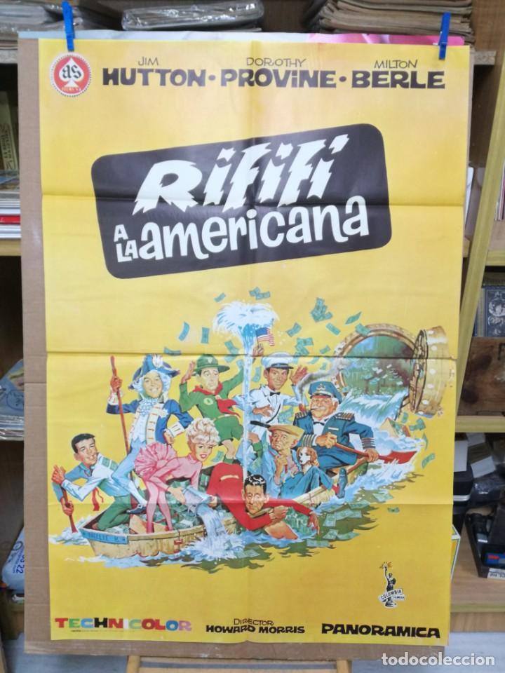CARTEL ORIGINAL CINE RIFIFI A LA AMERICANA JIM HUTTON DOROTHI PROVINE MILTON BERLE (Cine - Posters y Carteles - Comedia)