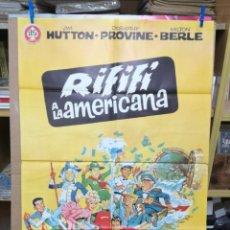 Cine: CARTEL ORIGINAL CINE RIFIFI A LA AMERICANA JIM HUTTON DOROTHI PROVINE MILTON BERLE. Lote 205018458