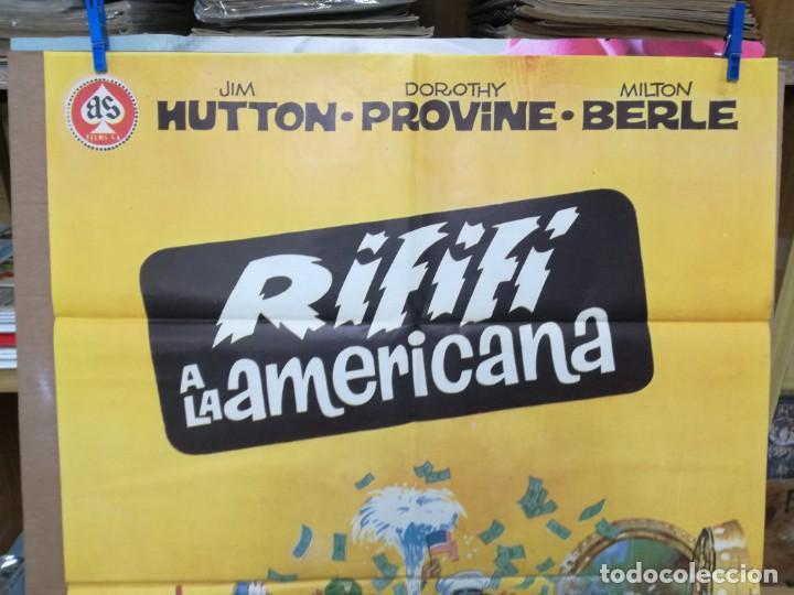 Cine: CARTEL ORIGINAL CINE RIFIFI A LA AMERICANA JIM HUTTON DOROTHI PROVINE MILTON BERLE - Foto 2 - 205018458