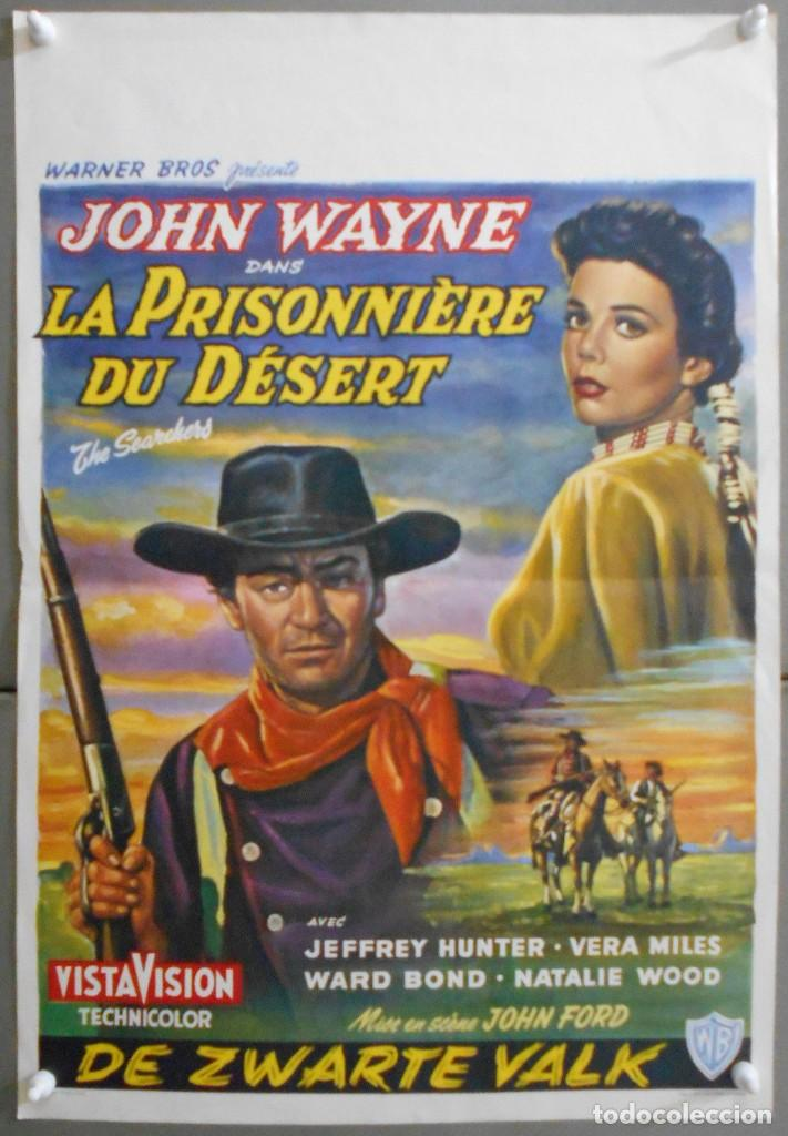 WT23D CENTAUROS DEL DESIERTO JOHN WAYNE NATALIE WOOD JEFFREY HUNTER POSTER ORIGINAL 37X56 BELGA (Cine - Posters y Carteles - Westerns)
