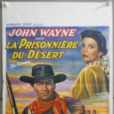Cine: WT23D CENTAUROS DEL DESIERTO JOHN WAYNE NATALIE WOOD JEFFREY HUNTER POSTER ORIGINAL 37X56 BELGA. Lote 205068411