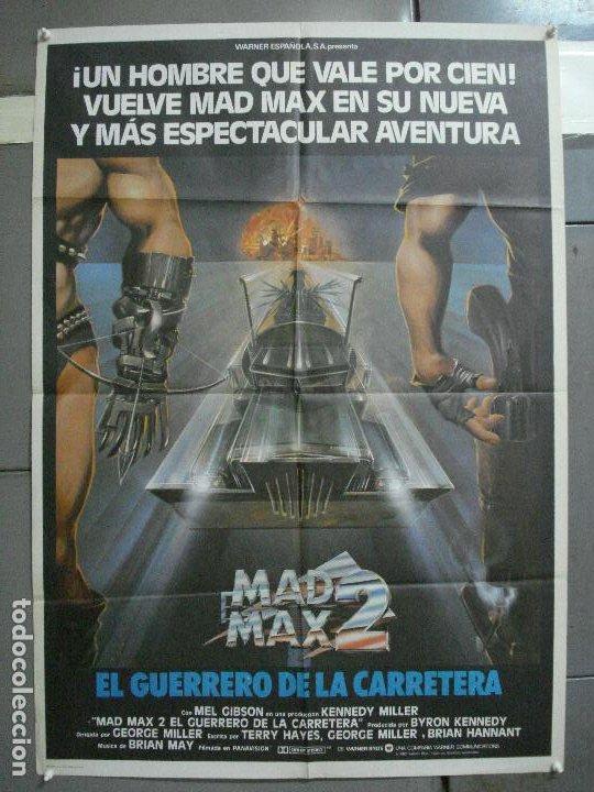 AAI82 MAD MAX 2 MEL GIBSON POSTER ORIGINAL 70X100 ESTRENO (Cine - Posters y Carteles - Ciencia Ficción)