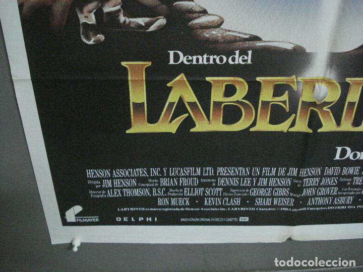 Cine: AAI84 DENTRO DEL LABERINTO DAVID BOWIE JIM HENSON GEORGE LUCAS POSTER ORIGINAL 70X100 ESTRENO - Foto 5 - 205106925